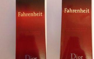 Как отличить оригинальные мужские духи Fahrenheit Dior от поддельных
