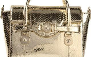 Как отличить подделку сумки Versace