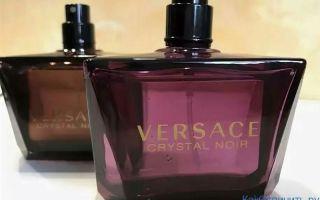Как отличить оригинальную туалетную воду Versace Crystal Noir от подделки