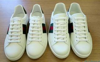 Как отличить кроссовки Gucci Ace Sneakers от подделки
