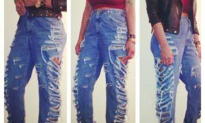 Как носить джинсы бойфренды женские