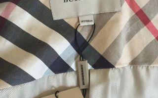 Burberry как отличить подделку одежды и сумок
