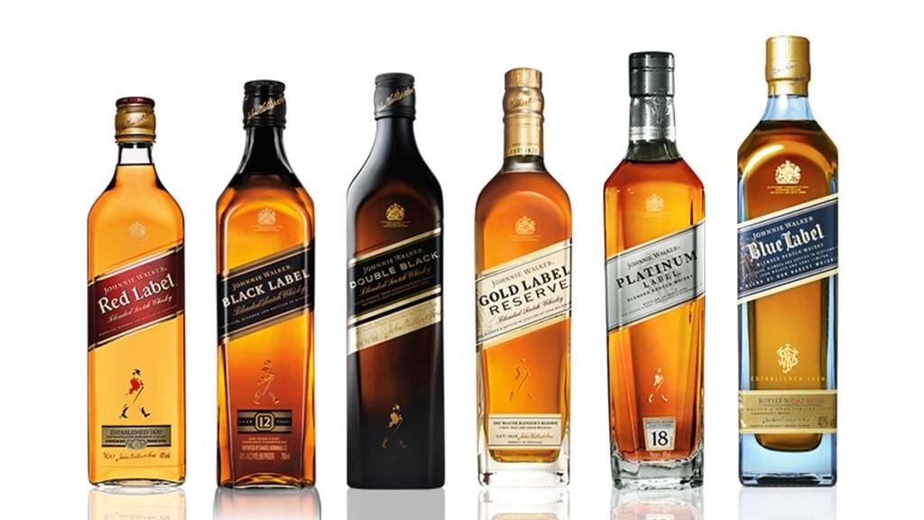 Johnnie Walker все сорта виски
