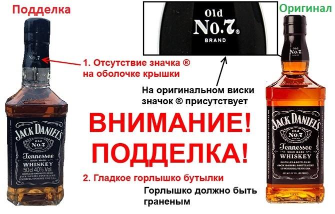 Как отличить виски JackDaniel's от подделки