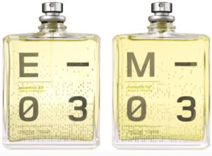 Escentric 03 — слева. Molecules 03 — справа.