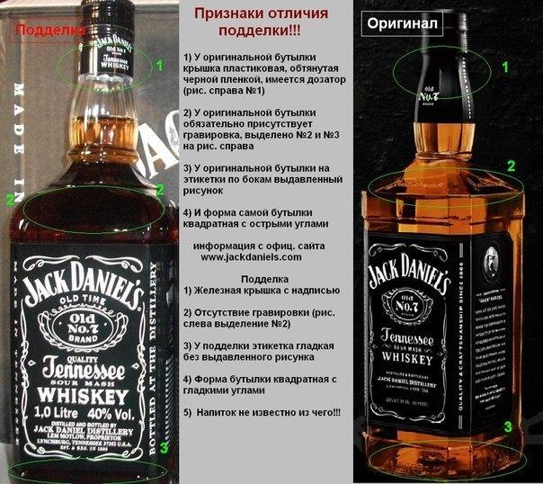 Отличия оригинала от подделки Jack Daniels
