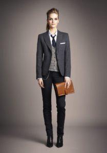 Серый деловой костюм