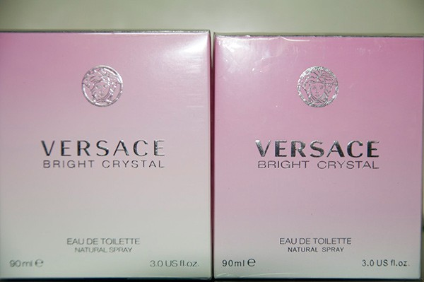 Надписи на коробке Versace