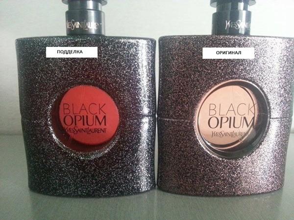 Флакон Black Opium от Ива Сен Лорана
