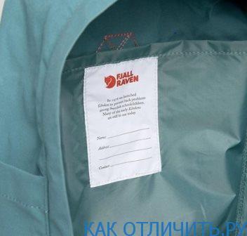 Паспорт рюкзака Fjallraven Kanken