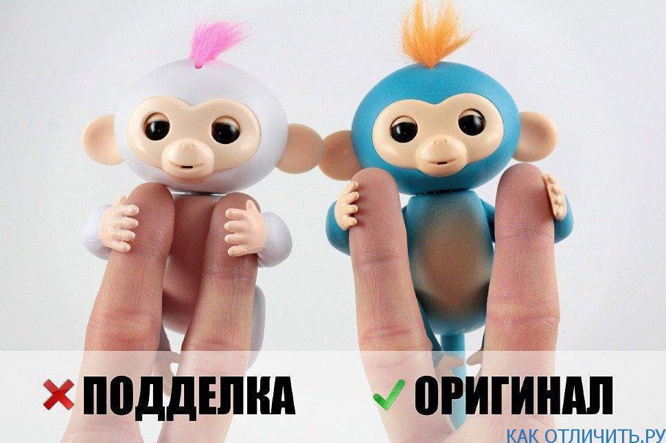 Отличие в прическе обезьянки