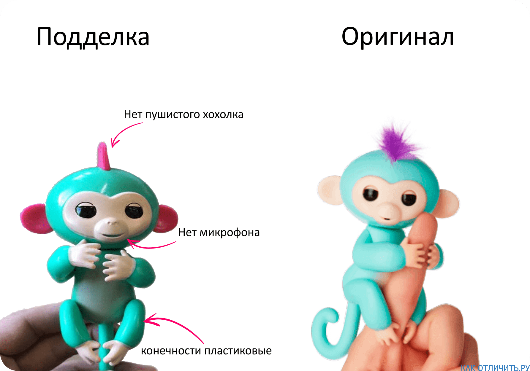 Оригинал и копия игрушки