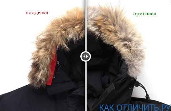 Отличия меха на капюшоне
