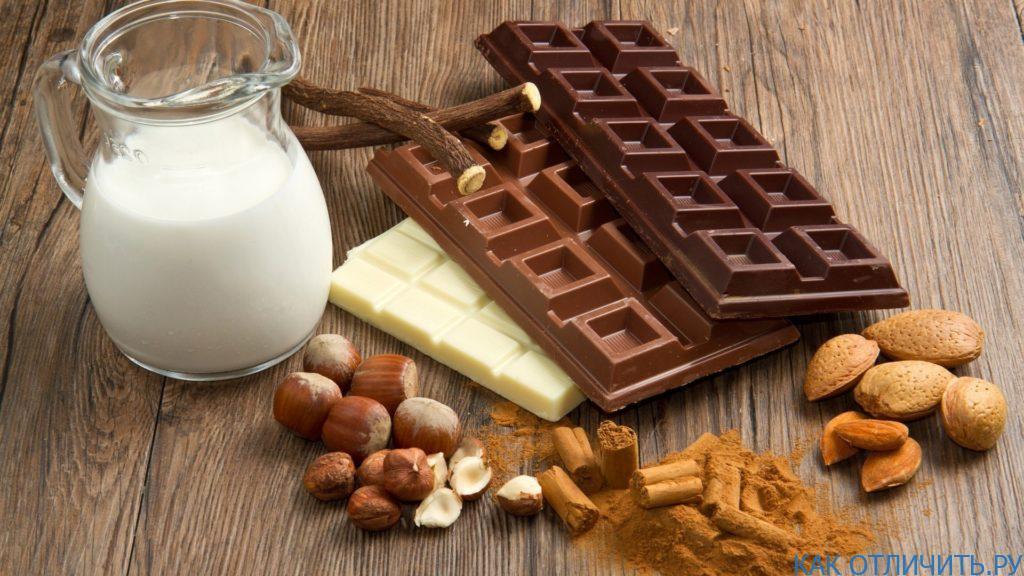 Из каких продуктов делают шоколад