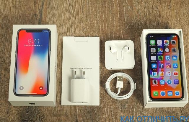 Упаковка и комплектация телефона