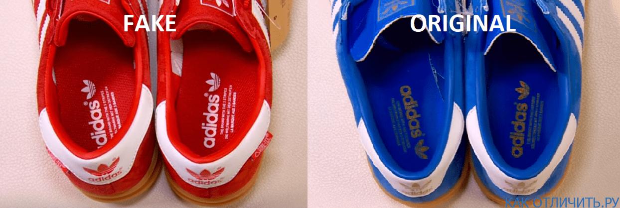 Надписи на стельках Adidas