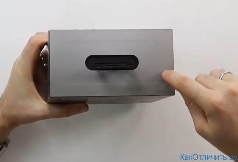 Верхняя часть коробки оригинала Marshall Major III Bluetooth