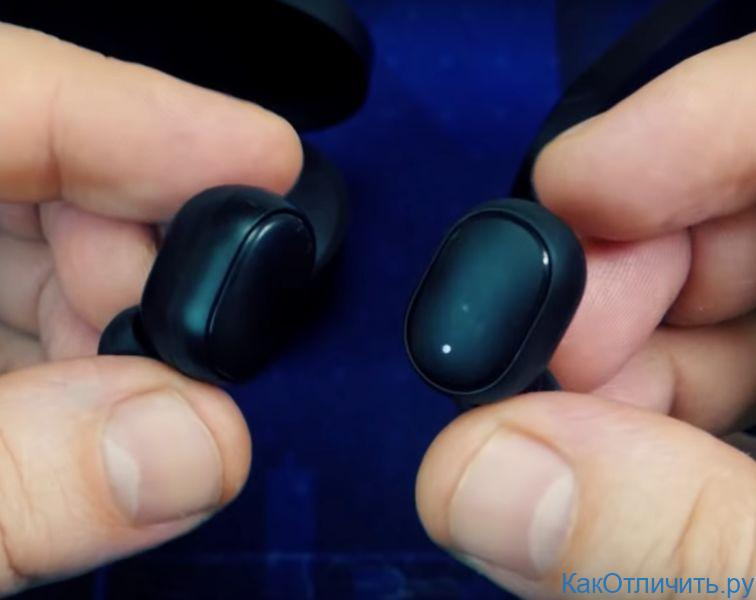 Отличия кнопки Redmi AirDots