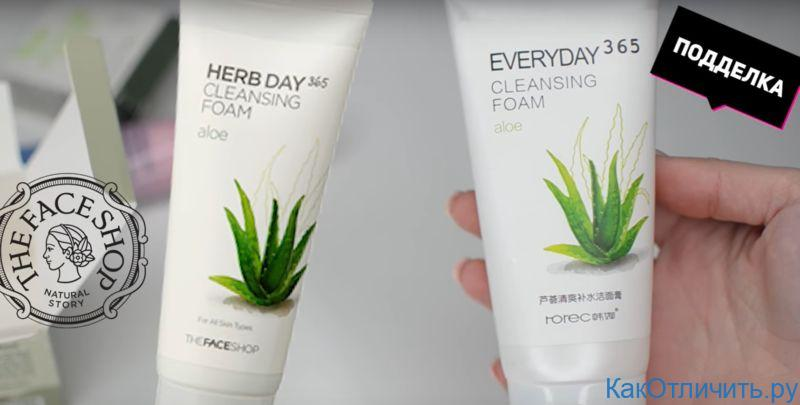 Отличия Herb Day Cleaning Foam The Face Shop