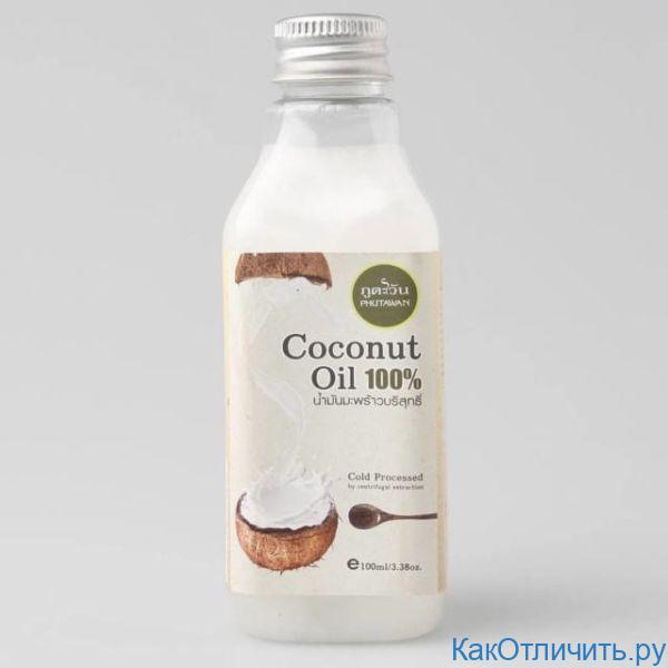Консистенция натурального кокосового масла