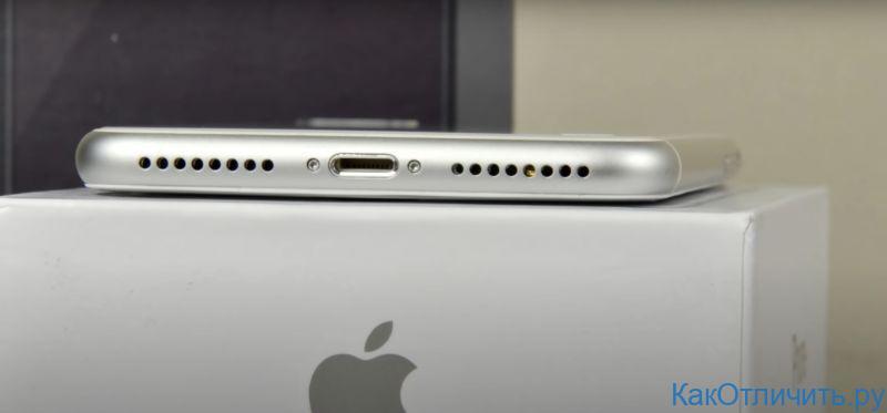 Нижний торец китайской копии iPhone 8 Plus