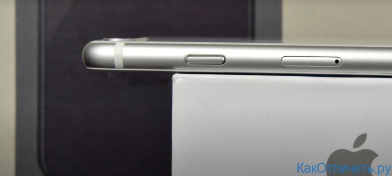 Правый торец китайской подделки iPhone 8 Plus