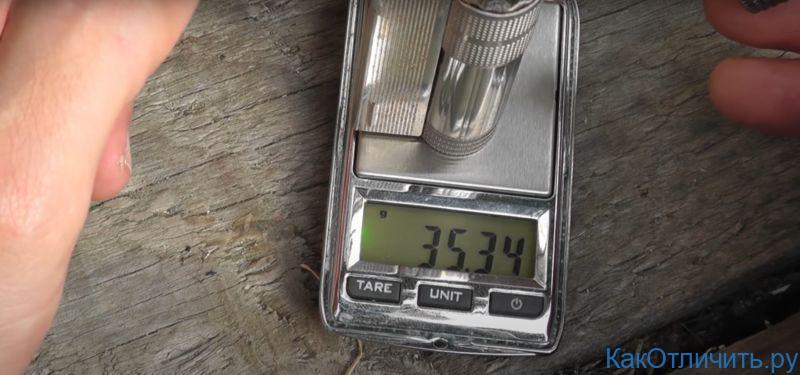 Вес оригинальной зажигалки IMCO 6700