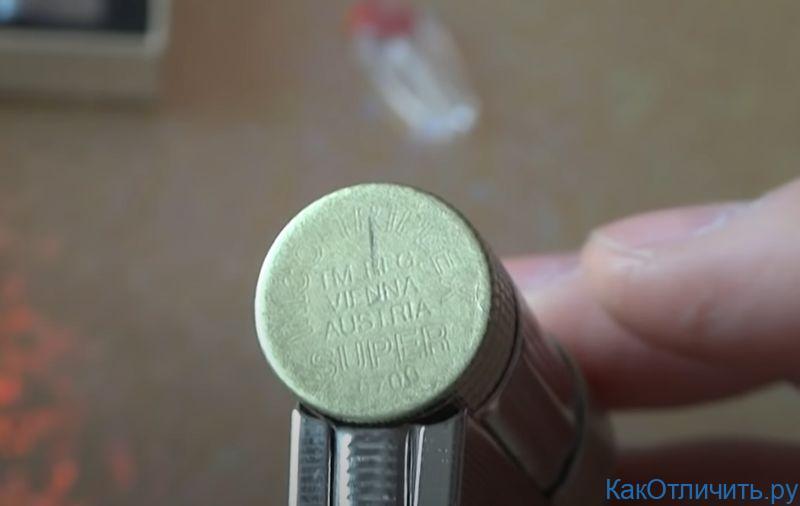 Надпись на крышке оригинальной зажигалки IMCO 6700