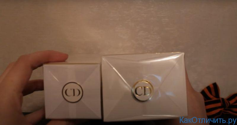 Различия логотипов Dior J'adore L'or