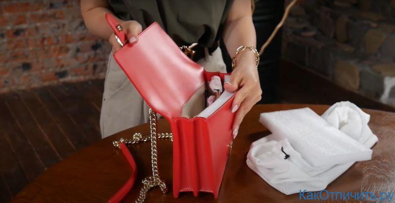 Внутреннее строение Love bag от Pinko