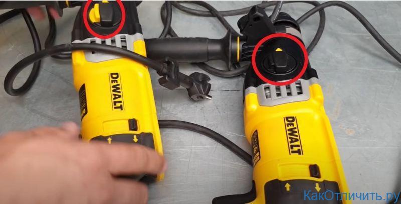 Отличия кнопки DeWALT