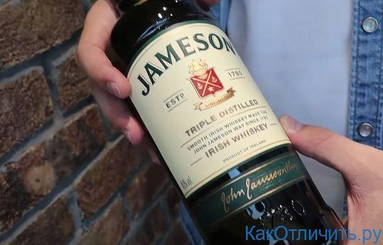 Оригинальная бутылка Jameson
